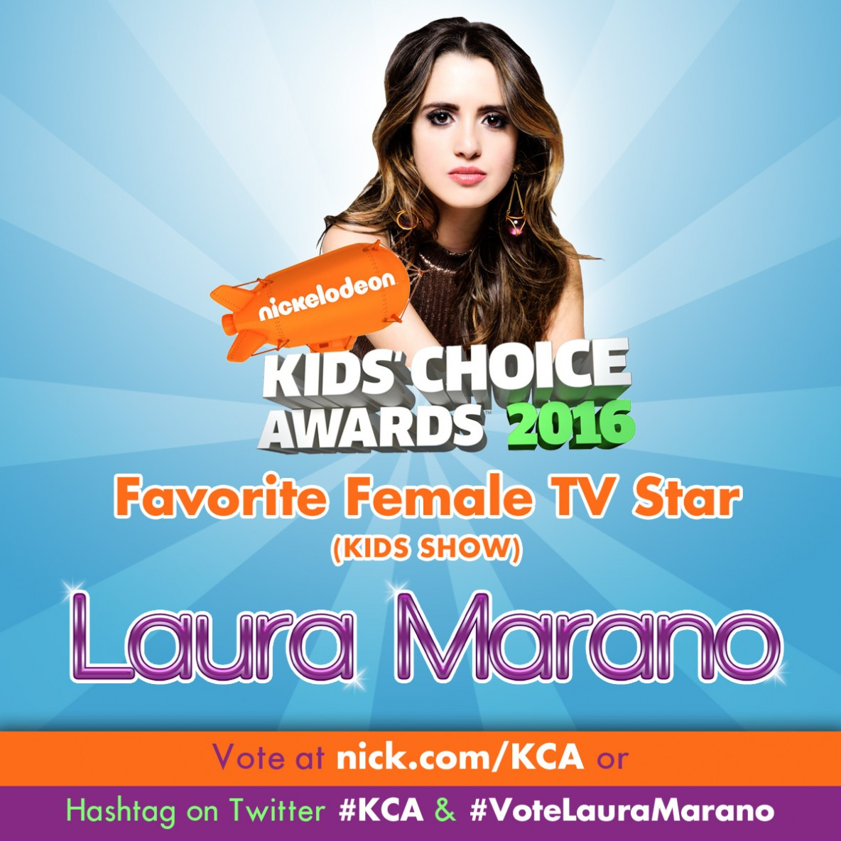 cbb320f435a Vote Laura for the Kids Choice Awards
